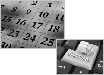 Calendar With a Conceptual Image Of a Box Truck On a Keyboard
